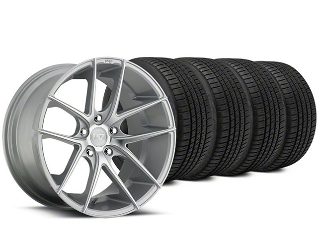 Niche Targa Matte Silver Wheel & Michelin Pilot Sport A/S 3+ Tire Kit - 20x8.5 (15-18 All)