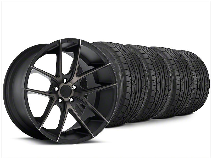 Niche Targa Matte Black Wheel & NITTO NT555 G2 Tire Kit - 20x8.5 (15-17 All)