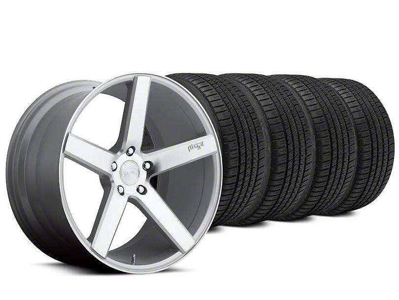 Niche Milan Silver Wheel & Michelin Pilot Sport A/S 3+ Tire Kit - 20x8.5 (15-17 All)