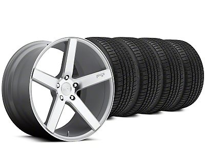 Niche Milan Silver Wheel & Michelin Pilot Sport A/S 3+ Tire Kit - 20x8.5 (15-19 All)