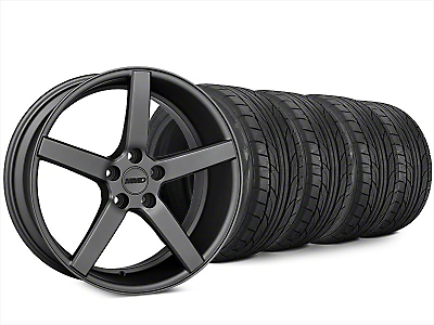 MMD 551C Charcoal Wheel & NITTO NT555 G2 Tire Kit - 20x8.5 (15-18 GT, EcoBoost, V6)