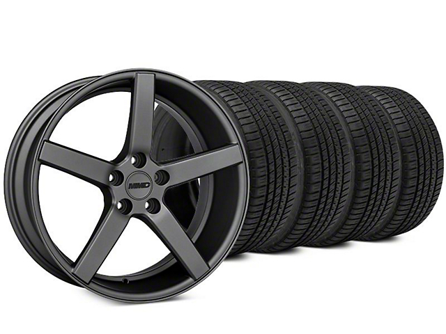 MMD 551C Charcoal Wheel & Michelin Pilot Sport A/S 3+ Tire Kit - 20x8.5 (15-20 GT, EcoBoost, V6)