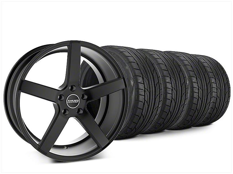 MMD 551C Matte Black Wheel & NITTO NT555 G2 Tire Kit - 20x8.5 (15-17 GT, EcoBoost, V6)