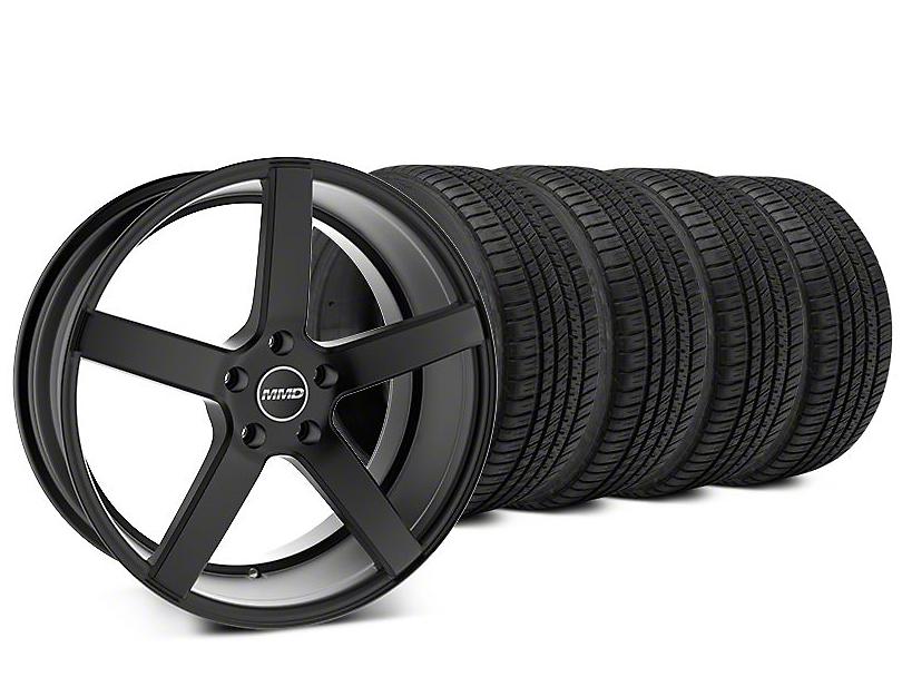 MMD 551C Matte Black Wheel & Michelin Pilot Sport A/S 3+ Tire Kit - 20x8.5 (15-18 GT, EcoBoost, V6)