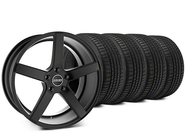 MMD 551C Matte Black Wheel & Michelin Pilot Sport A/S 3+ Tire Kit - 20x8.5 (15-19 GT, EcoBoost, V6)