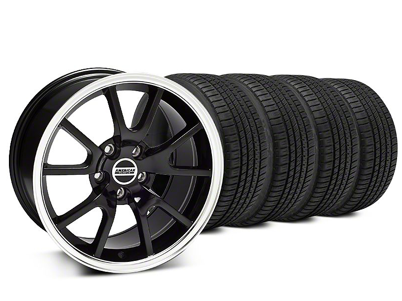 FR500 Style Black Wheel & Michelin Pilot Sport A/S 3+ Tire Kit - 20x8.5 (15-19 All)