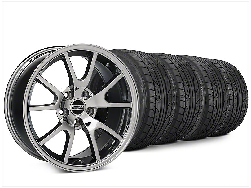 FR500 Style Chrome Wheel & NITTO NT555 G2 Tire Kit - 20x8.5 (15-17 All)