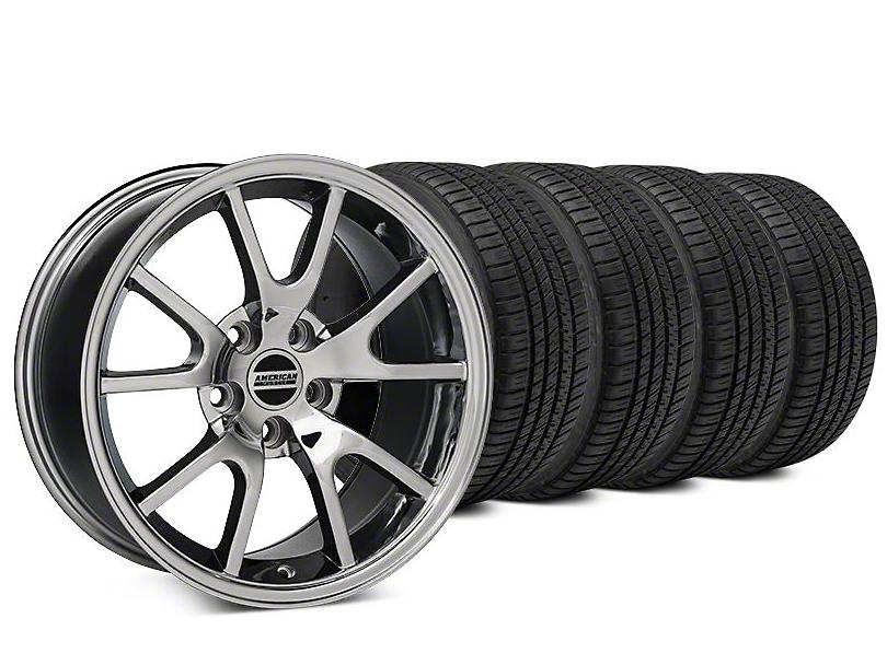FR500 Style Chrome Wheel & Michelin Pilot Sport A/S 3+ Tire Kit - 20x8.5 (15-17 All)