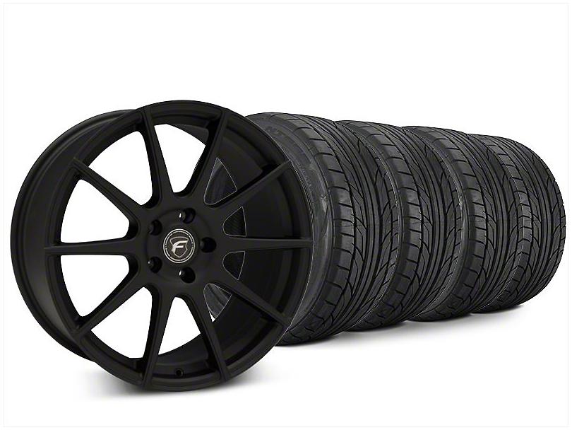Forgestar CF10 Textured Matte Black Wheel & NITTO NT555 G2 Tire Kit - 20x9 (15-17 All)