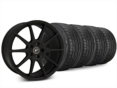 Forgestar CF10 Textured Matte Black Wheel & NITTO NT555 G2 Tire Kit - 20x9 (15-18 All)