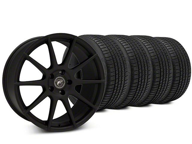 Forgestar CF10 Textured Matte Black Wheel & Michelin Pilot Sport A/S 3+ Tire Kit - 20x9 (15-18 All)