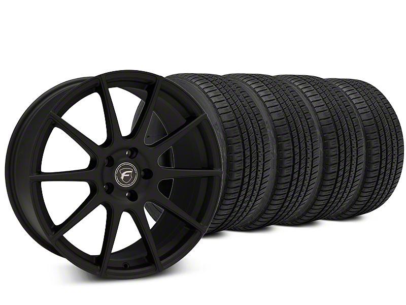 Forgestar CF10 Textured Matte Black Wheel & Michelin Pilot Sport A/S 3+ Tire Kit - 20x9 (15-17 All)