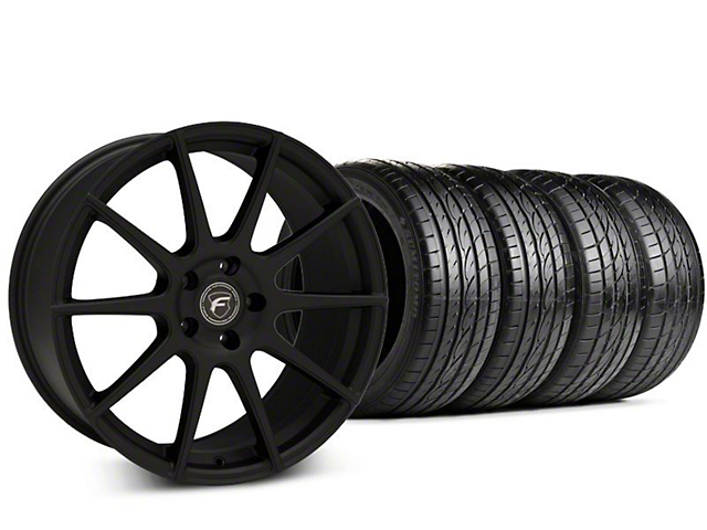 Forgestar CF10 Textured Matte Black Wheel & Sumitomo HTR Z III Tire Kit - 20x9 (15-18 GT, EcoBoost, V6)