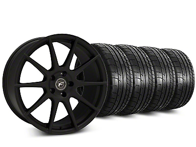 Forgestar CF10 Textured Matte Black Wheel & Mickey Thompson Street Comp Tire Kit - 20x9 (15-17 All)