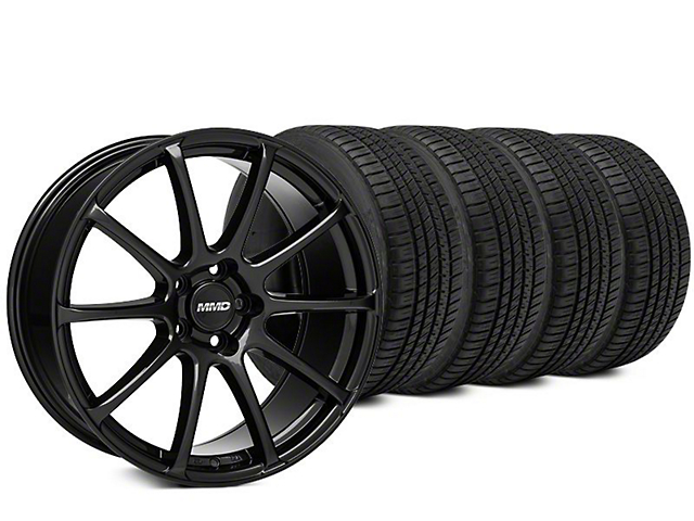 MMD Axim Black Wheel & Michelin Pilot Sport A/S 3+ Tire Kit - 20x8.5 (15-19 All)
