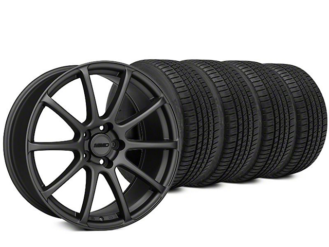 MMD Axim Charcoal Wheel & Michelin Pilot Sport A/S 3+ Tire Kit - 20x8.5 (15-17 All)
