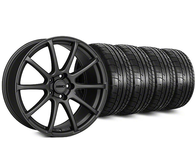 MMD Axim Charcoal Wheel & Mickey Thompson Street Comp Tire Kit - 20x8.5 (15-18 All)