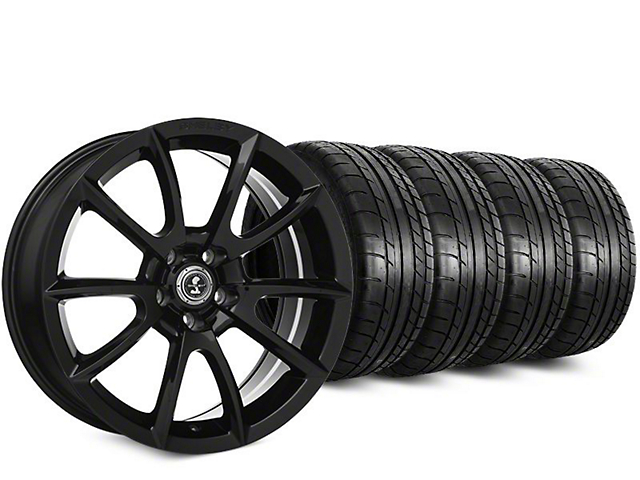 Super Snake Style Black Wheel & Mickey Thompson Street Comp Tire Kit - 19x8.5 (15-17 All)