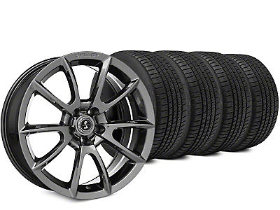 Super Snake Style Chrome Wheel & Michelin Pilot Sport A/S 3+ Tire Kit - 19x8.5 (15-17 All)