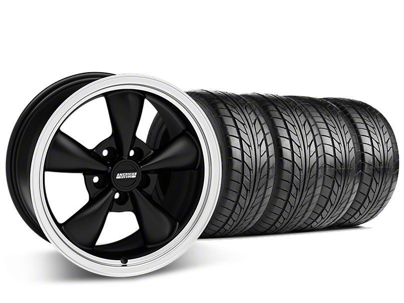 Staggered Bullitt Matte Black Wheel & NITTO G2 Tire Kit - 17x9/10.5 (99-04 All)