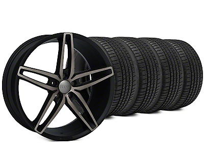 Foose Stallion Double Dark Wheel & Michelin Pilot Sport A/S 3+ Tire Kit - 20x8.5 (15-17 All)