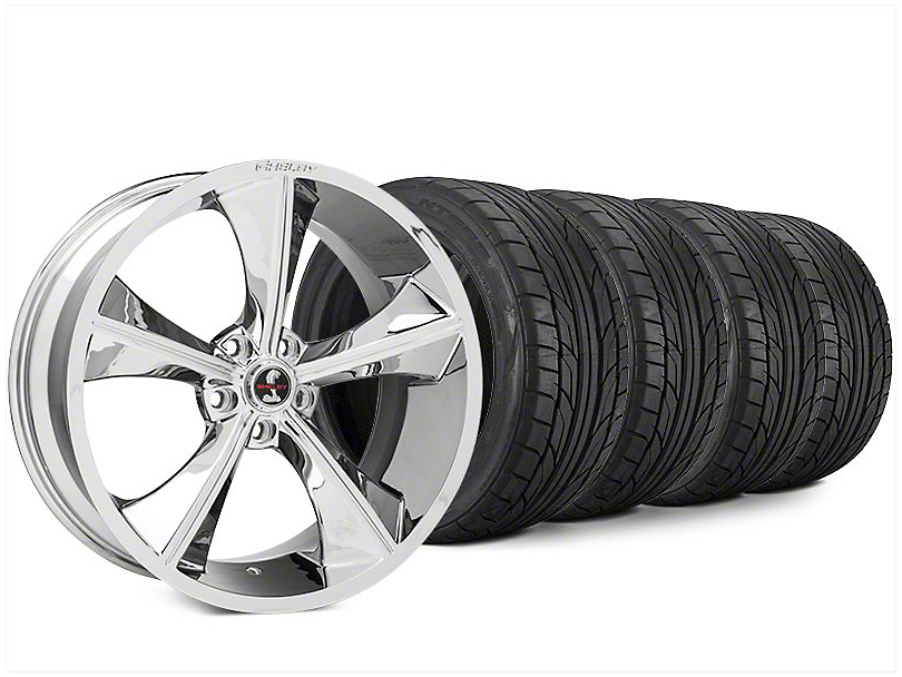 Shelby CS70 Chrome Wheel & NITTO NT555 G2 Tire Kit - 20x9 (15-17 All)