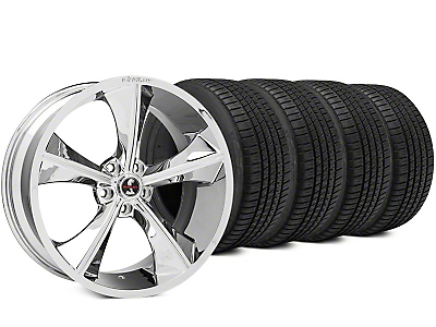 Shelby CS70 Chrome Wheel & Michelin Pilot Sport A/S 3+ Tire Kit - 20x9 (15-17 All)