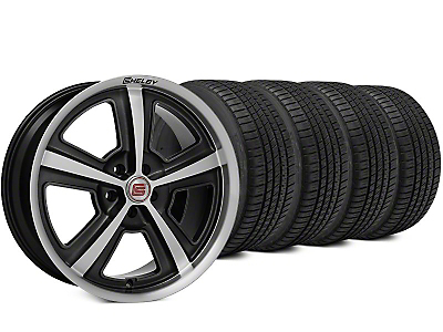 Shelby CS69 Hyper Black Wheel & Michelin Pilot Sport A/S 3+ Tire Kit - 20x9 (15-17 All)