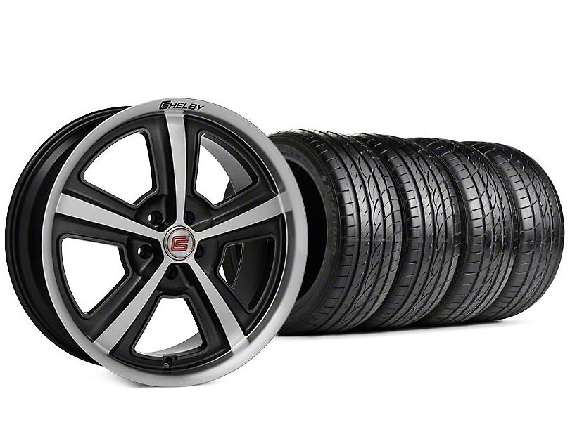 Shelby CS69 Hyper Black Wheel & Sumitomo HTR Z III Tire Kit - 20x9 (15-17 All)