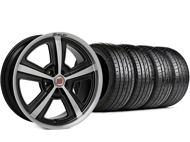Shelby CS69 Hyper Black Wheel & Sumitomo HTR Z III Tire Kit - 20x9 (15-18 GT, EcoBoost, V6)