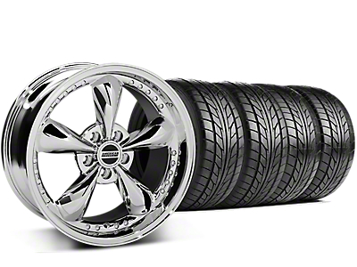 Bullitt Motorsport Chrome Wheel & NITTO G2 Tire Kit - 18x9 (99-04 All)