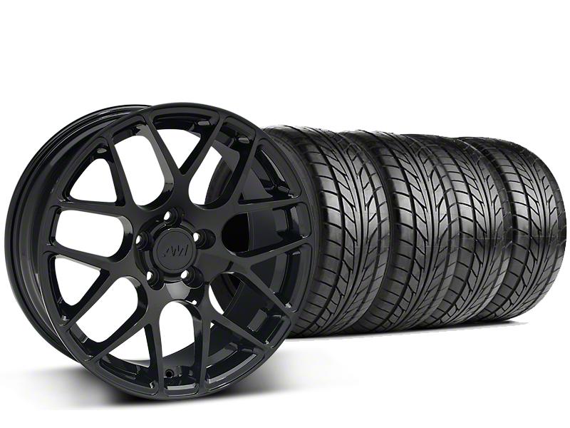 AMR Black Wheel & NITTO G2 Tire Kit - 18x9 (99-04 All)