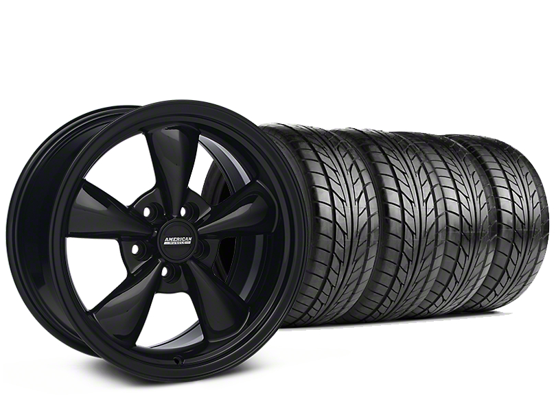 Bullitt Solid Black Wheel & NITTO G2 Tire Kit - 18x9 (99-04 All)