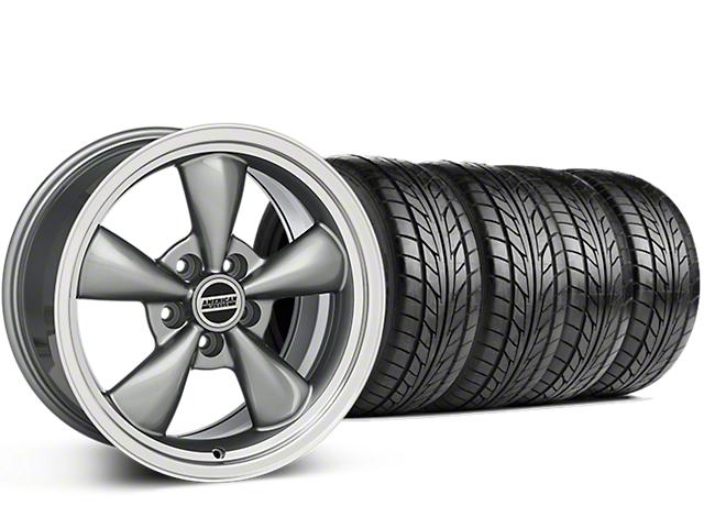 Deep Dish Bullitt Anthracite Wheel & NITTO G2 Tire Kit - 18x9 (99-04 All)