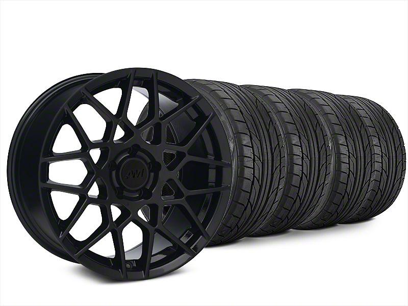 2013 GT500 Style Gloss Black Wheel & NITTO G2 Tire Kit - 18x9 (99-04 All)