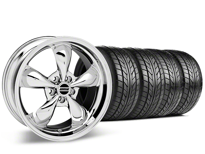 Bullitt Chrome Wheel & NITTO G2 Tire Kit - 17x9 (87-93 w/ 5 Lug Conversion)