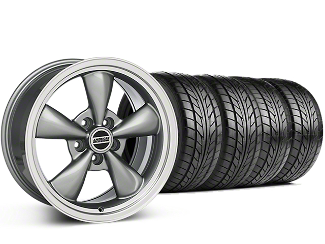 Bullitt Anthracite Wheel & NITTO G2 Tire Kit - 17x9 (87-93 5 Lug Conversion)