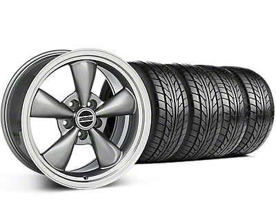 Bullitt Anthracite Wheel & NITTO G2 Tire Kit - 17x9 (87-93 w/ 5 Lug Conversion)
