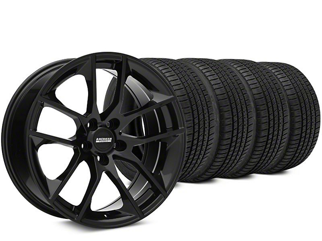 Magnetic Style Black Wheel & Michelin Pilot Sport A/S 3+ Tire Kit - 19x8.5 (15-19 GT, EcoBoost, V6)