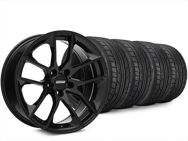 Magnetic Style Black Wheel & NITTO NT555 G2 Tire Kit - 20x8.5 (15-17 All)