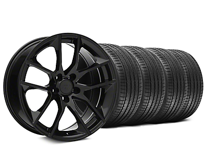 Magnetic Style Black Wheel & Sumitomo HTR Z III Tire Kit - 20x8.5 (15-19 GT, EcoBoost, V6)