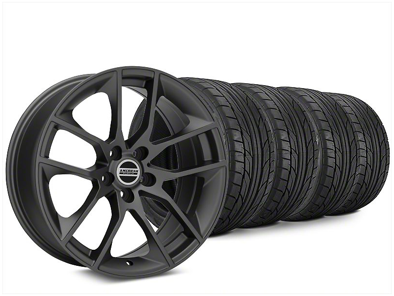 Magnetic Style Charcoal Wheel & NITTO NT555 G2 Tire Kit - 20x8.5 (15-19 GT, EcoBoost, V6)