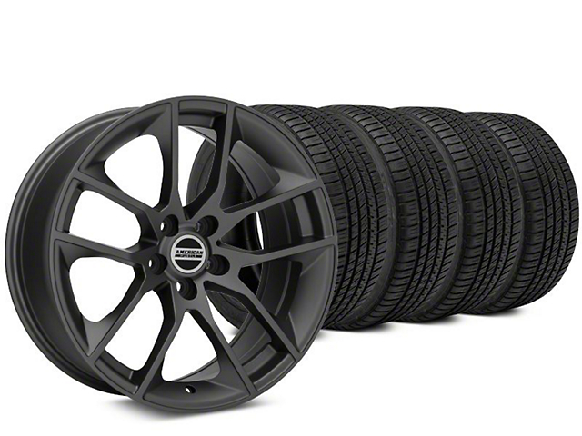 Magnetic Style Charcoal Wheel & Michelin Pilot Sport A/S 3+ Tire Kit - 20x8.5 (15-19 GT, EcoBoost, V6)