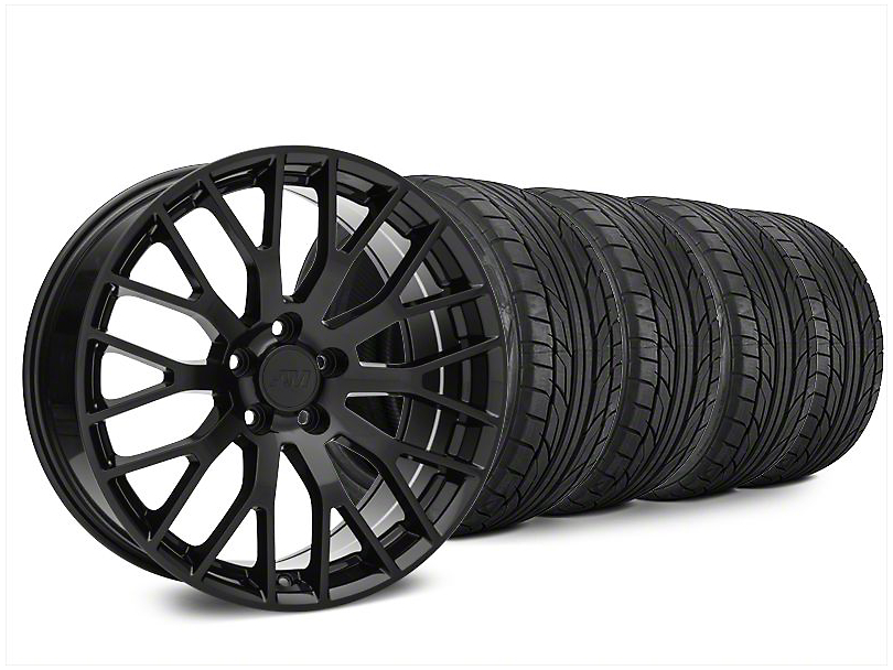 Performance Pack Style Black Wheel & NITTO NT555 G2 Tire Kit - 20x8.5 (15-20 GT, EcoBoost, V6)