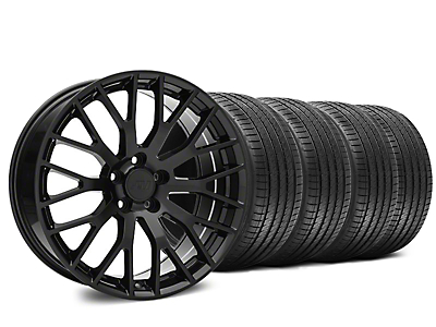 Performance Pack Style Black Wheel & Sumitomo HTR Z III Tire Kit - 20x8.5 (15-18 GT, EcoBoost, V6)