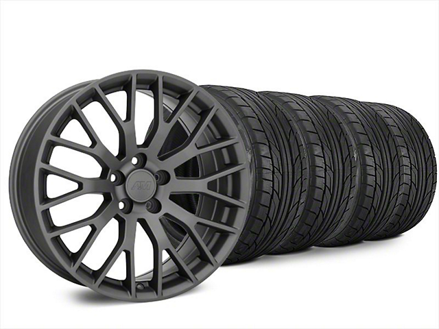 Performance Pack Style Charcoal Wheel & NITTO NT555 G2 Tire Kit - 20x8.5 (15-19 GT, EcoBoost, V6)