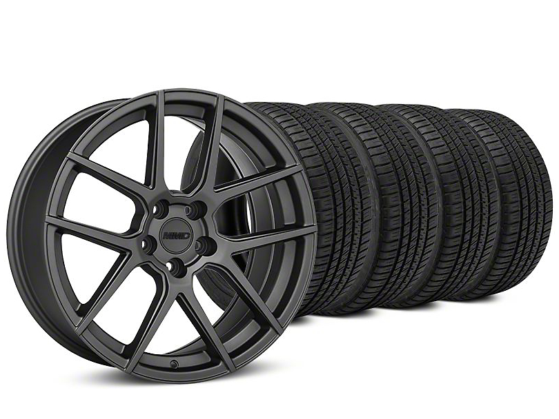 MMD Zeven Charcoal Wheel & Michelin Pilot Sport A/S 3+ Tire Kit - 19x8.5 (15-19 All)