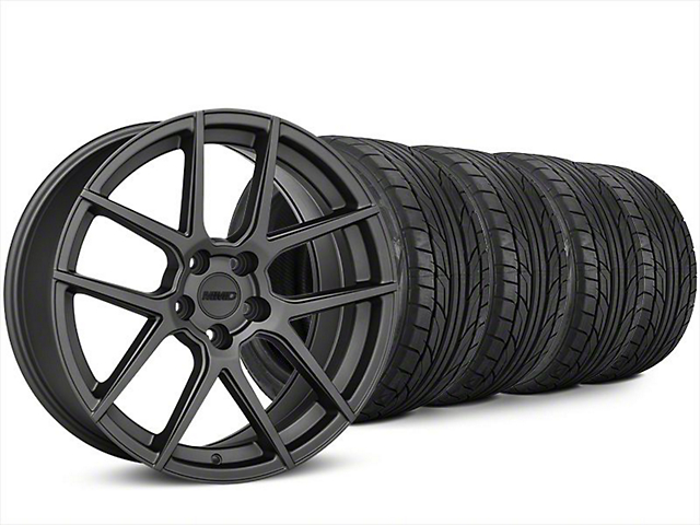 MMD Zeven Charcoal Wheel & NITTO NT555 G2 Tire Kit - 20x8.5 (15-17 All)