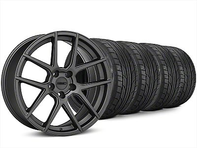 MMD Zeven Charcoal Wheel & NITTO NT555 G2 Tire Kit - 20x8.5 (15-19 All)