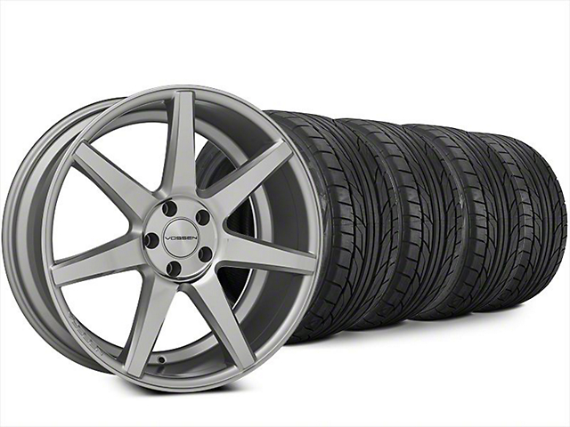 Vossen CV7 Silver Polished Wheel & NITTO NT555 G2 Tire Kit - 20x9 (15-18 All)